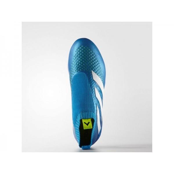 Adidas ACE 16 für Herren Fußball Schuhe - Shock Blue/Semi Solar Slime/White