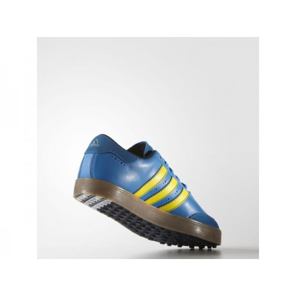 Adidas Adicross für Herren Golf Schuhe - Bright Blue/Bright Yellow/Beige