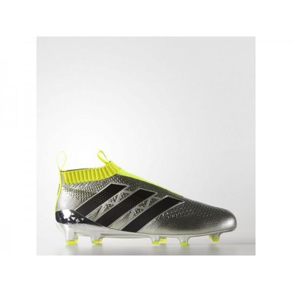 Adidas ACE 16 für Herren Fußball Schuhe - Silver Met./Black/Solar Yellow
