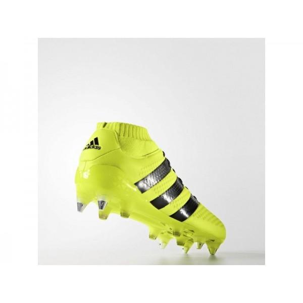 Adidas ACE 16 für Herren Fußball Schuhe - Solar Yellow/Black/Silver Met.