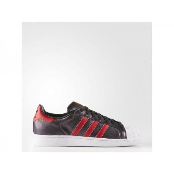 Originalsschuhe Adidas 'Superstar' Schwarz/Collegiate Rot/Collegiate Red für Herren Schuhe