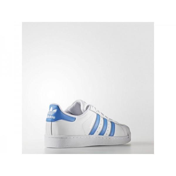 adidas Originals SUPERSTAR Herren Schuhe - Weiß/Ray Blau F16/Ray Blau F16