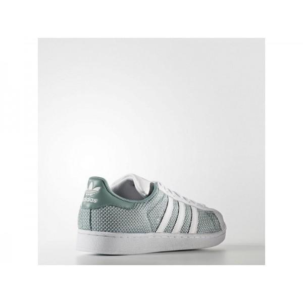 adidas Originals SUPERSTAR Herren Schuhe - Weiß/Dampf Grün F16
