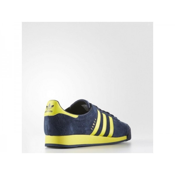 Originalsschuhe Adidas 'Samoa Vintage' Collegiate Navy/Bright Yellow/Drossel Schuhe für Herren
