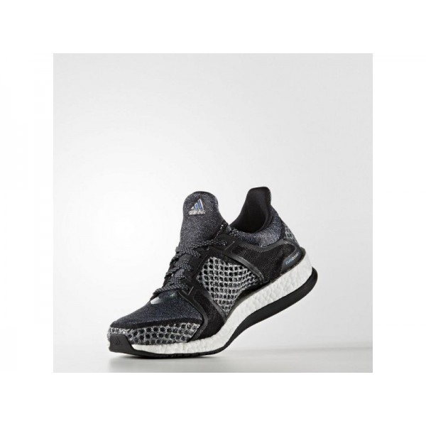PURE BOOST X TRAINING adidas Damen Training Schuhe - Core-Schwarz/Kern Schwarz/Vapour Blau F16