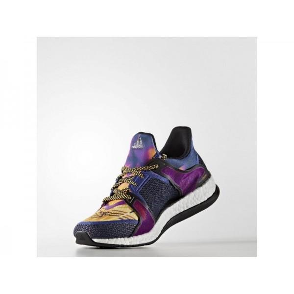 PURE BOOST X TRAINING adidas Damen Training Schuhe - Unity Ink F16/Kern Schwarz/Solar Gold