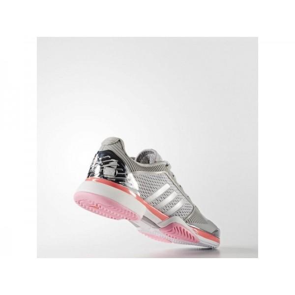 BARRICADE 2018 adidas Damen Tennis Schuhe - Silber Met./Flash-Rot S15/Universe F10