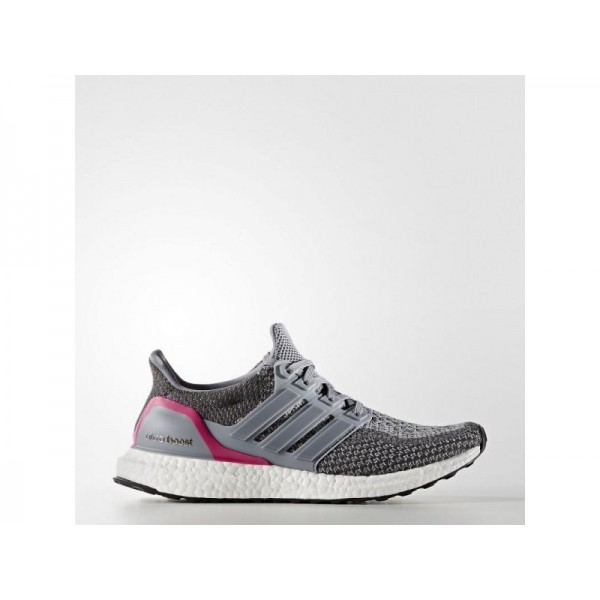 Adidas Damen Ultra Boost Running Schuhe - Grey/Grey/Shock Pink S16