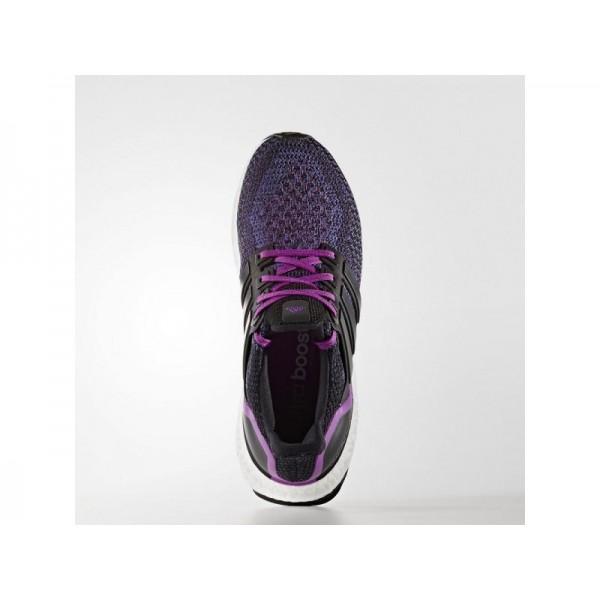 Adidas Damen Ultra Boost Running Schuhe - Black/Black/Shock Purple F16