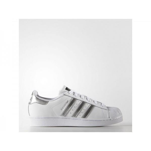 Adidas Superstar für Damen Originals Schuhe Verkaufen - White/Silver Metallic/Black