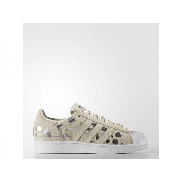 Adidas Superstar für Damen Originals Schuhe - Off White/Off White/Metallic Silver-Sld