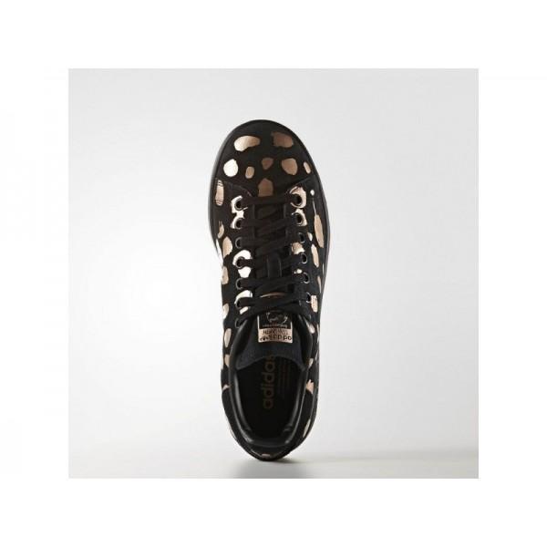 Adidas Damen Stan Smith Originals Schuhe - Black/Black/Copper Met.