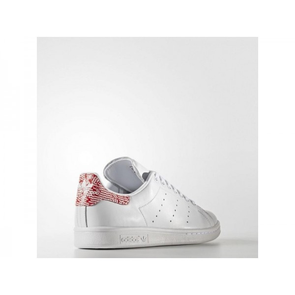 Adidas Damen Stan Smith Originals Schuhe Online - Ftwr White/Ftwr White/Collegiate Red
