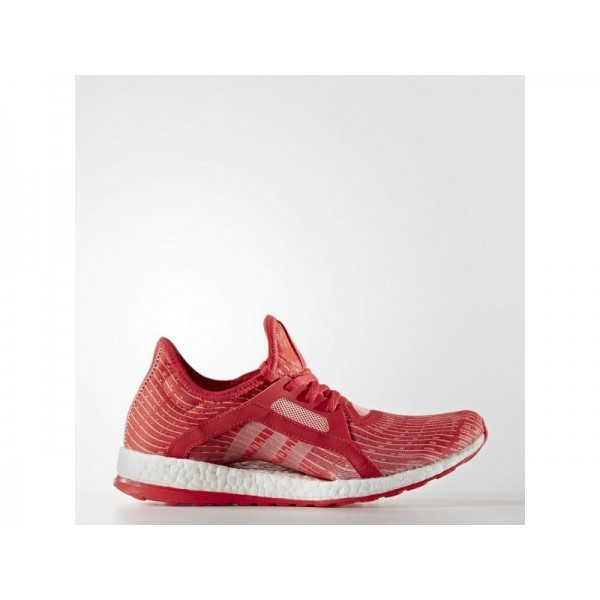 Adidas Damen Pure Boost Running Schuhe - Ray Red F16/Vapour Pink F16/Ftwr White