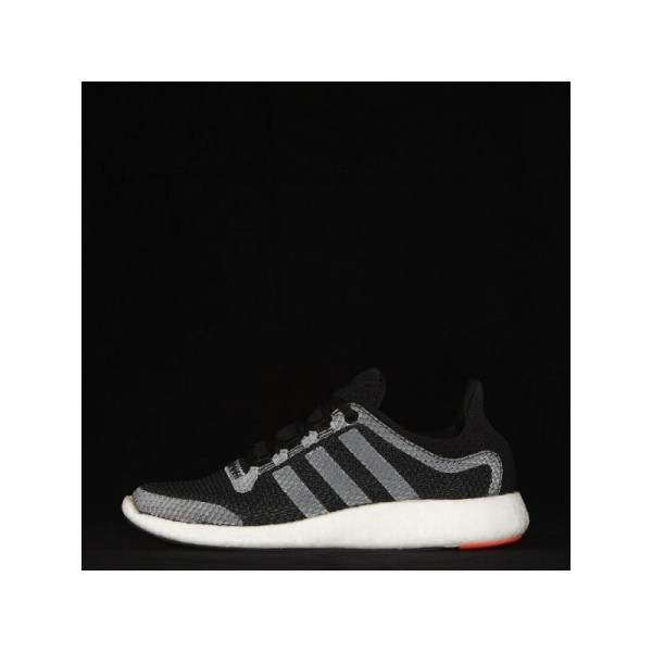 Adidas Pure Boost für Damen Running Schuhe - Black/Black/Solar Red