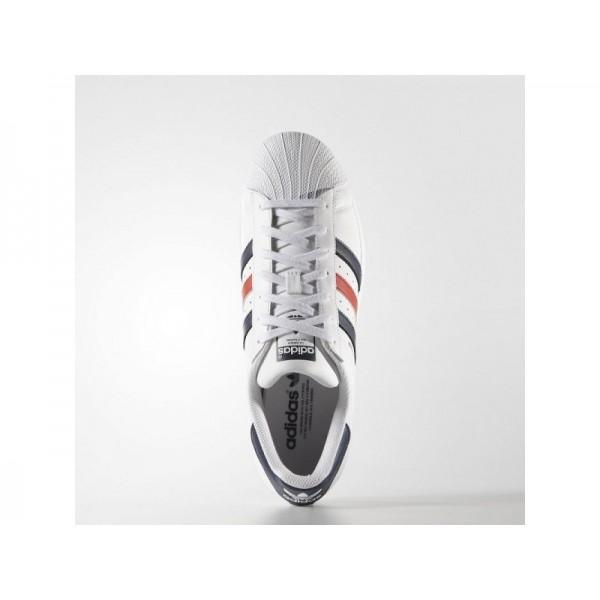 adidas Originals SUPERSTAR FOUNDATION Herren Schuhe - Weiß/Collegiate Navy/Red