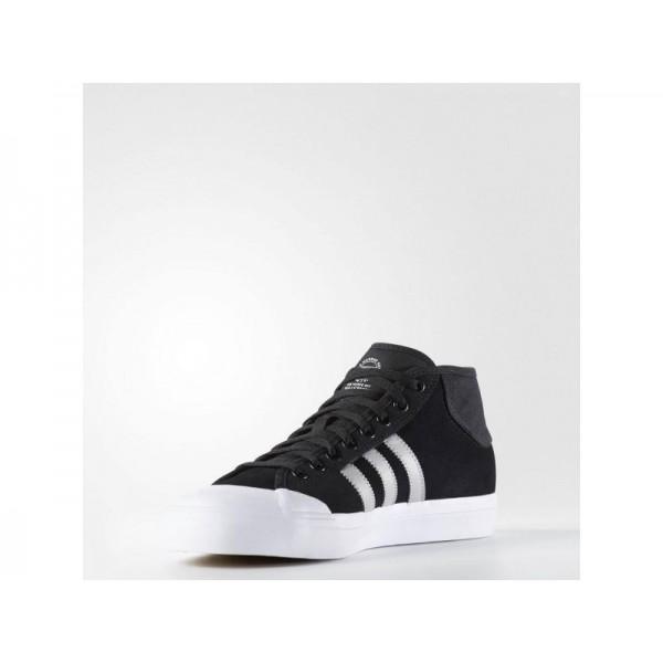 Originalsschuhe Adidas 'Matchcourt Mid ADV' Schwarz/LGH Fest Grau/Weiß FTWR Schuhe für Herren