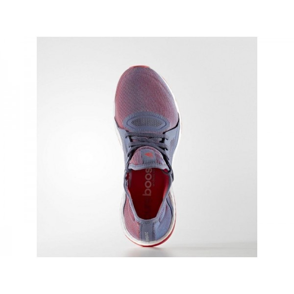 Adidas Damen Pure Boost Running Schuhe - Super Purple S16/Silver Met./Shock Red S16