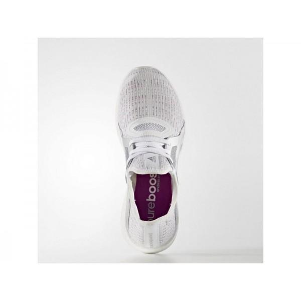 Adidas Damen Pure Boost Running Schuhe Online - Ftwr White/Silver Met./Shock Purple F16