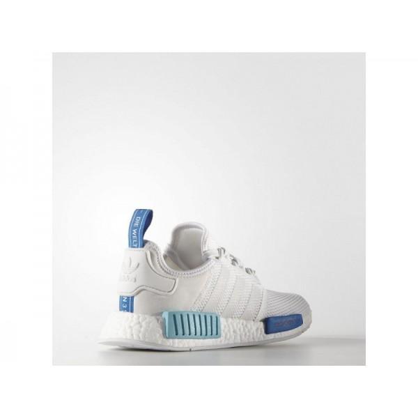 Adidas NMD R1 für Damen Originals Schuhe Verkaufen - White/Blue Glow Adidas S75235