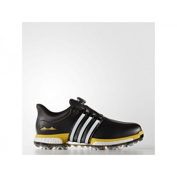 Golfschuhe Adidas 'Tour360 Boa Boost' Schwarz/FTWR Weiß/Bold Gold- für Mädchen Schuhe