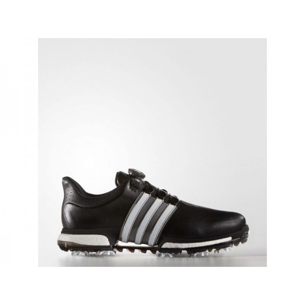 Golfschuhe Adidas 'Tour 360 Boa Boost' Schwarz/Weiß/Power Red Schuhe für Mädchen