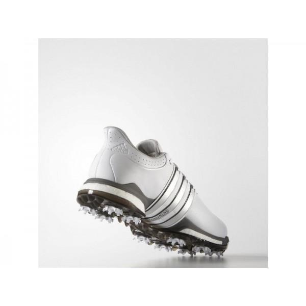 Golfschuhe Adidas 'Tour 360 Boost Wide' Weiß/Silber Metallic/Dark Silver Metallics für Herren Schuhe