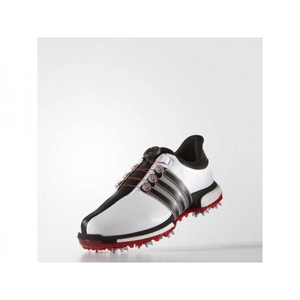 Golfschuhe Adidas 'Tour 360 Boa Boost' Weiß/Schwarz/Power Red für Herren Schuhe