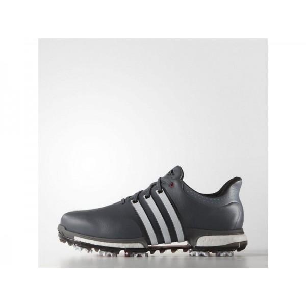 Golfschuhe Adidas 'Tour 360 Boost Wide' Onyx/Weiß/Rot Shock Schuhe für Mädchen