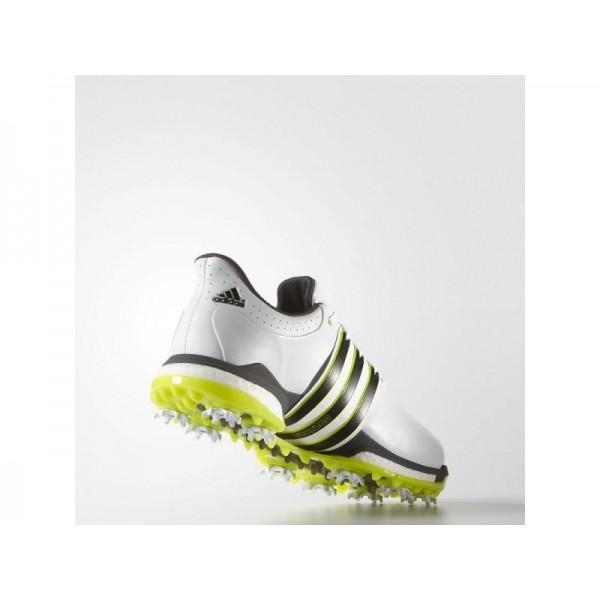 Golfschuhe Adidas 'Tour 360 Boost Wide' Weiß/Schwarz-Core/Solar Gelb für Herren Schuhe