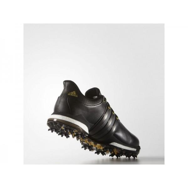 Golfschuhe Adidas 'Tour 360 Boost Wide' Schwarz/Gold Metallic für Mädchen Schuhe