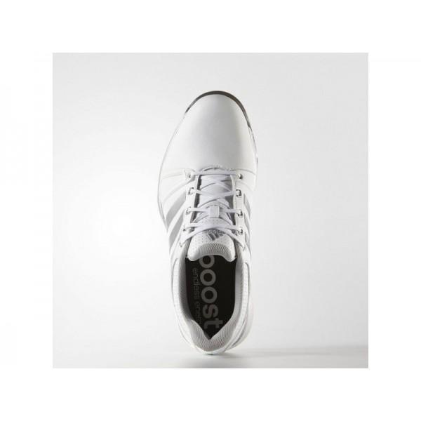 Golfschuhe Adidas 'adipower Boost 2.0 WD' Weiß/Silber Metallic/Schwarz für Herren Schuhe