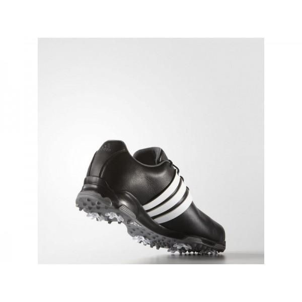 Golfschuhe Adidas 'Pure Traxion WD' Black/White/Dark Silver Metallics für Mädchen Schuhe