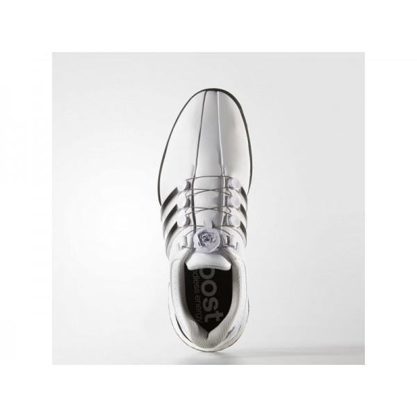 Golfschuhe Adidas 'Tour 360 Boa Boost' Weiß/Schwarz/Dark Silver Metallics für Herren Schuhe