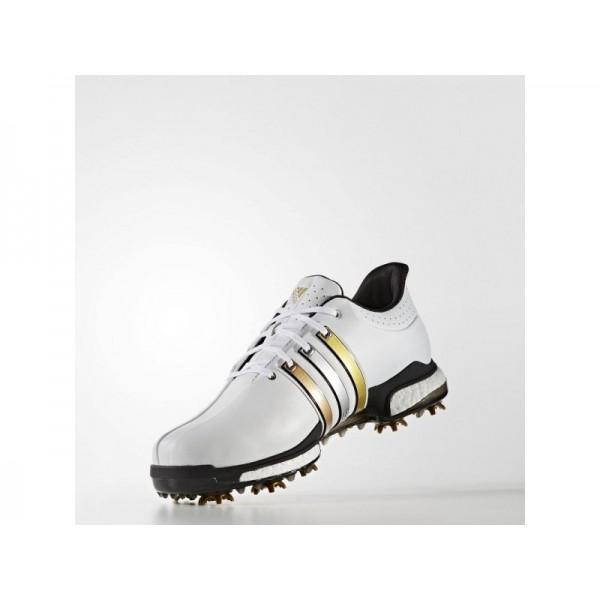 Golfschuhe Adidas 'Tour 360 Boost Wide' FTWR Weiß/Gold Met./Schwarz Schuhe für Mädchen