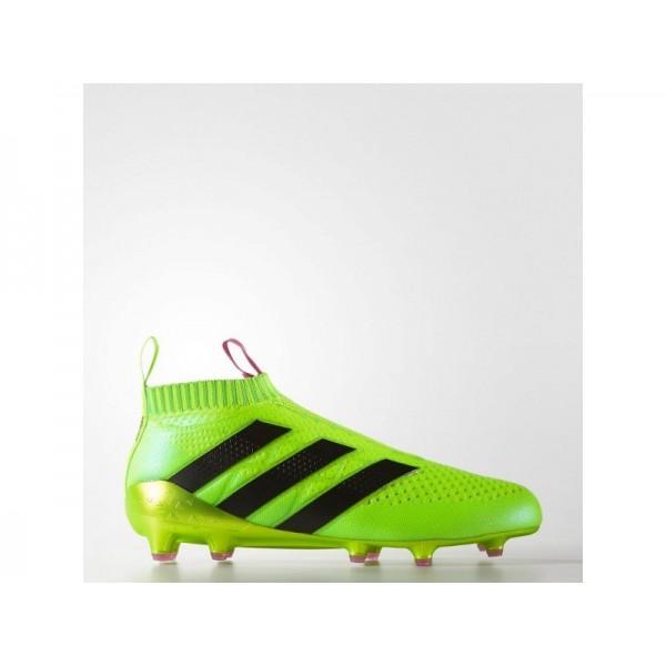 Fußballschuhe Adidas 'ACE 16+ PURECONTROL Firm Ground' Solar Green/Shock Rosa/Schwarz Schuhe für Mädchen