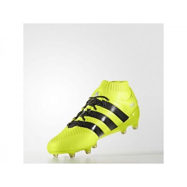 Fußballschuhe Adidas 'ACE 16.1 Primeknit FG Fußballschuh' Solar-Gelb/Schwarz/Silber Met. für Mädchen Schuhe