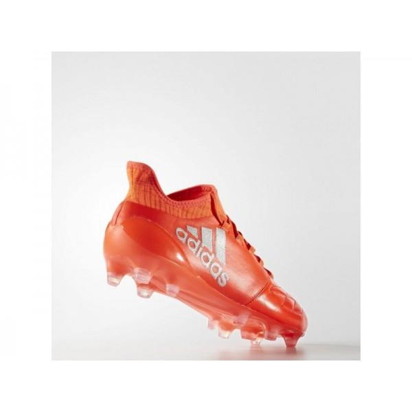 Fußballschuhe Adidas 'X 16.1 FG Leder Fußballschuh' Solar-Rot/Silber Met./Hi-Res Red F13 Schuhe für Mädchen