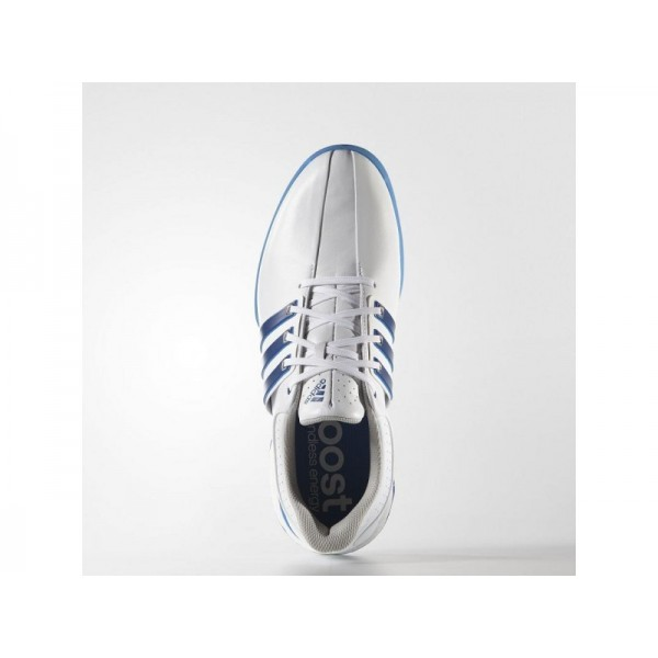 Golfschuhe Adidas 'Tour 360 Boost Wide' Weiß/Blau/Shock Blau Schuhe für Mädchen