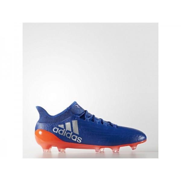 Fußballschuhe Adidas 'X 16.1 FG Fußballschuh' Königsblau/Silber Met./Solar Red Schuhe für Mädchen