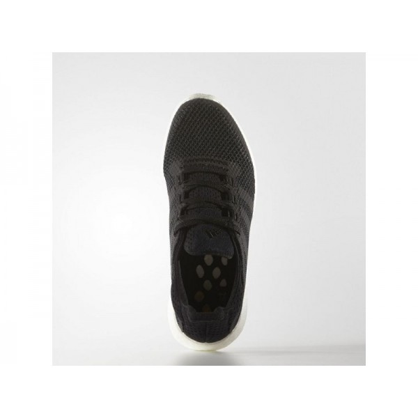 PURE BOOST adidas Damen Running Schuhe - Core-Schwarz/Core-Schwarz/Solar Red