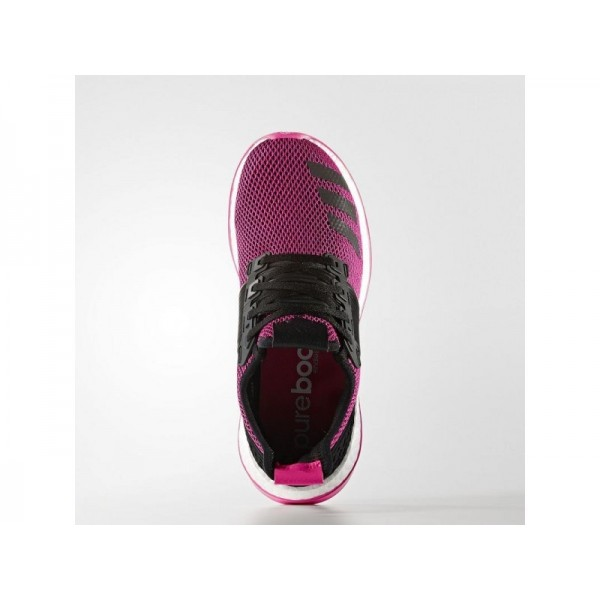 PURE BOOST ZG adidas Damen Running Schuhe - Core-Schwarz/Core-Schwarz/Shock Rosa S16