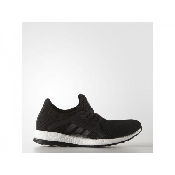 PURE BOOST X adidas Damen Running Schuhe - Core-Schwarz/Core-Schwarz/Dgh Fest Grau