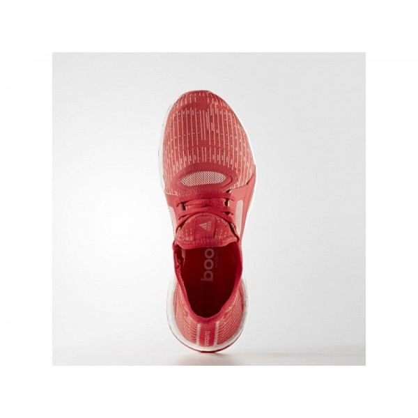 PURE BOOST X adidas Damen Running Schuhe - Ray Red F16/Dampf Rosa F16/Ftwr Weiß