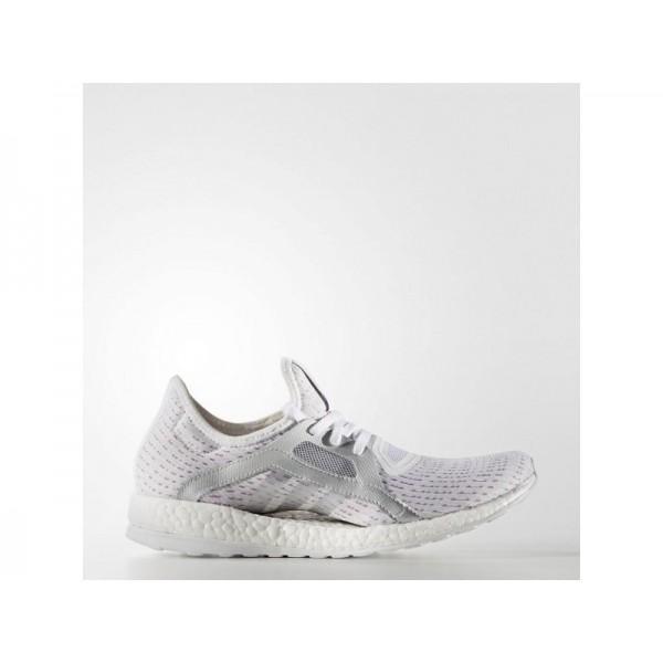 PURE BOOST X adidas Damen Running Schuhe - Ftwr Weiß/Slber Mt./Sock Lla F6