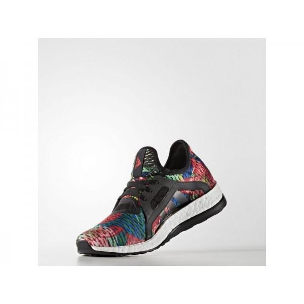 PURE BOOST X adidas Damen Running Schuhe - Core-Schwarz/Core-Schwarz/Ray Red F16