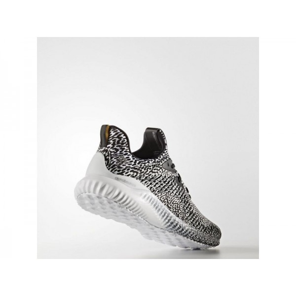 ALPHABOUNCE adidas Damen Running Schuhe - Core-Schwarz/Weiß Fwr/Cear Gau