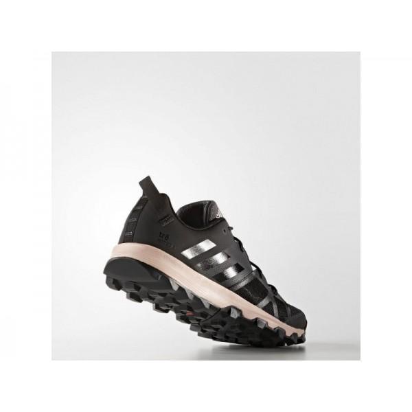 KANADIA 8 TRAIL adidas Damen Running Schuhe - Utility-Schwarz F16/Kern Schwarz/Dampf Rosa F16