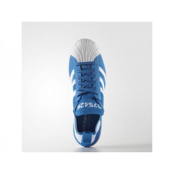 SUPERSTAR 80S PRIMEKNIT adidas Damen Originals Schuhe - Shock Blau/Weiß