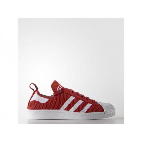 SUPERSTAR 80S PRIMEKNIT adidas Damen Originals Schuhe - Lush Rot/Weiß/Rt Lsh